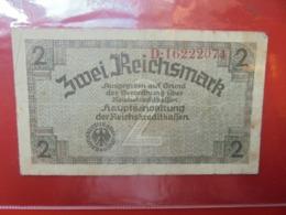 3eme REICH-TERRITOIRES OCCUPES 2 MARK 1940-45 CIRCULER (B.7) - [ 9] Duitse Bezette Gebieden