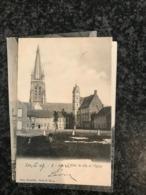 Loo Lo-Reninge Loo. - Eglise Et Hôtel De Ville. 1902 Naar Ypres - Lo-Reninge