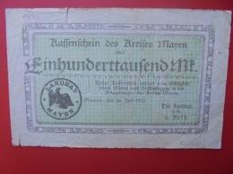 MAYEN 100.000 MARK 1923 CIRCULER (B.7) - [ 3] 1918-1933 : Repubblica  Di Weimar