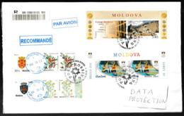 N 445) Moldawien R-Brief Nach Deutschland: 2016 Rio Kanu; Europa 2012; Pflanzen (Großbrief!) - Moldawien (Moldau)