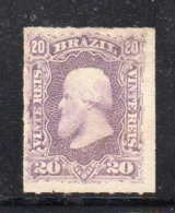 APR2611 - BRASILE 1878 , Yvert N. 38  Senza Gomma  (2380A)  Pedro II - Ongebruikt