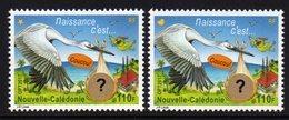 Nouvelle-Calédonie 2017 - Cigogne, C'est Une Fille Ou Un Garçon  - 2 Val Neufs // Mnh - New Caledonia