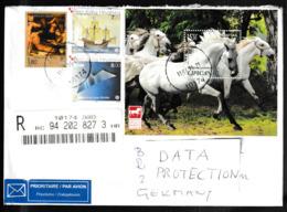 N 443) Kroatien R-Brief Nach Deutschland: Lipizzaner, Pferd; Santa Maria Kolumbus (Versand Im Großbrief!) - Kroatien