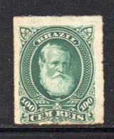 APR2614 - BRASILE 1878 , Yvert N. 41  * Gomma Parziale (2380A)  Pedro II - Ongebruikt