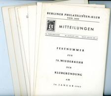 Berliner Philatelisten Klub Von 1888 - Festnummer Nr. 37 Jahrgang 1963 Mit Den Beilagen - Zeitschriften