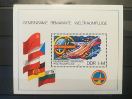 FRANCOBOLLI STAMPS GERMANIA DEUTSCHE DDR 1980 MNH** NUOVI BLOCCO SPACE TRAVEL VIAGGI SPAZIALI GERMANY - Nuovi