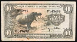 Ruanda-Burundi 10 Francs 1960 1960-09-15 KM#2 Pressato E Lievi Restauri Lotto.2759 - Ruanda