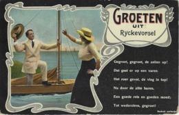 Groeten Uit  Ryckevorsel.   -   GEDICHT...  -  Naar Ostende - Rijkevorsel