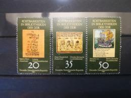 FRANCOBOLLI STAMPS GERMANIA DEUTSCHE DDR 1981 MNH** NUOVI SERIE COMPLETA LIBRARY TREASURES GERMANY - Nuovi