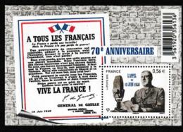 N 432) Frankreich 2010 Block: A Tous Les Francais, L'Appel 10.6.1940 DE GAULLE - De Gaulle (General)