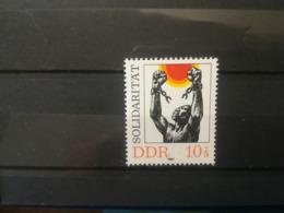 FRANCOBOLLI STAMPS GERMANIA DEUTSCHE DDR 1981 MNH** NUOVI SOLIDARIETA' SOLIDARIETY GERMANY - Nuovi