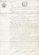 1819 Militaria Tirage Au Sort - ACTE DE REMPLACEMENT - Jean-B. BOBO De BAIXAS Et Antoine LAGUERRE Militaire De Perpignan - Historical Documents