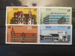 FRANCOBOLLI STAMPS GERMANIA DEUTSCHE DDR 1982 MNH** NUOVI SERIE COMPLETA POST BUILDINGS EDIFICI POSTALI  GERMANY - Nuovi
