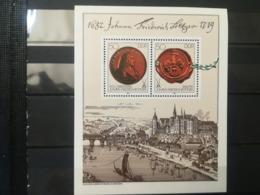 FRANCOBOLLI STAMPS GERMANIA DEUTSCHE DDR 1982 MNH** NUOVI SERIE COMPLETA FOGLIETTO 300 ANNI JOHANN BOTTGER  GERMANY - Nuovi