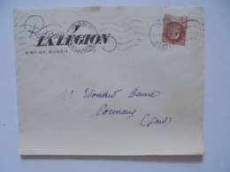 Enveloppe La Legion Francaise Des Combattants De Vichy Timbre Petain A L Envers ! Revue De La Lfc La Legion /propagande - Wars