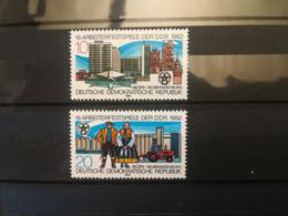 FRANCOBOLLI STAMPS GERMANIA DEUTSCHE DDR 1982 MNH** NUOVI SERIE COMPLETA 19TH LABOUR FESTIVAL NEO-BRANDEBURG GERMANY - Nuovi