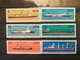 FRANCOBOLLI STAMPS GERMANIA DEUTSCHE DDR 1982 MNH** NUOVI SERIE COMPLETA SHIPS NAVI GERMANY - Nuovi