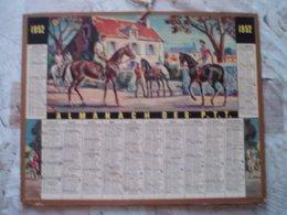 CALENDRIER PTT 1952- EQUITATION- NIEVRE 58- VOIR - Autres Collections