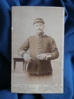Photo CDV Pierre Le Breton à Rennes - Portrait Militaire Cavalier (Médard Fontaine) Du 41e Dragon, Vers 1900-05 L462 - Oorlog, Militair