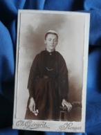 Photo CDV Gérard à Rennes - Jeune Fille à La Coiffe Régionale, Folklore, Vers  1895-00 L462 - Antiche (ante 1900)