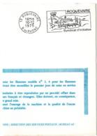 BOUCHES Du RHONE - Dépt N° 13 = ROQUEVAIRE 1975 = FLAMME FDC SECAP Illustrée D'un DOLMEN ' SYNDICAT INITIATIVE ' - Marcofilia (sobres)