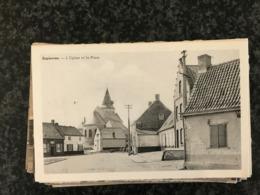 Espierres Eglise Et Place ( Spierre-Helkijn ) - Edit. Seynaeve - Espierres-Helchin - Spiere-Helkijn