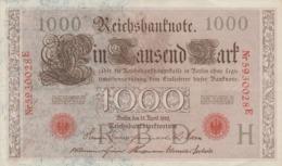 ALLEMAGNE - EMPIRE ALLEMAND . LOT DE 5 BILLETS De BANQUE De 1000 Mark - Berlin Le 10 Avril 1910 - 1000 Mark