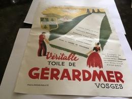 Publicité 1940 Cette Véritable Toile De Gérardmer Vosges Blanchi Sur Près La Centrale Liniere Sélectionnez Contrôler Liv - Werbung