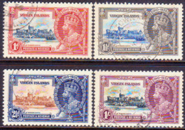 BRITISH VIRGIN ISLANDS 1935 SG 103-106 Compl.set Used CV £55 Silver Jubilee - British Virgin Islands