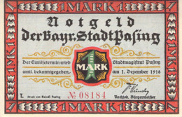 1 Mark Notgeld Stadt Passing UNC (I) - [11] Lokale Uitgaven