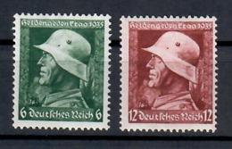 GERMANIA TERZO REICH 1935 - GIORNATA DEGLI EROI DELLA GRANDE GUERRA - MH * - Nuevos