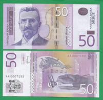 SERBIA - 50 DINARA – 2014 - UNC - Servië