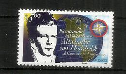 Explorateur Allemand Alexander Von Humboldt. (visite Au Mexique En 1799) Un Timbre Neuf ** Du Mexique 1999 - Onderzoekers