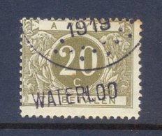 Nr. TX14A Met Naamstempel Waterloo - Portomarken