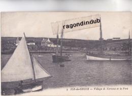 CPA - 56 - IILE De GROIX (Morbihan) - Village De Kersaus Et Le Port En 1922 - Groix