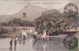 PASSAGE A GUE DE LA KITIM    + BEL AFFRANCHISSEMENT            COLORISEE - Guinée
