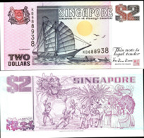 SINGAPORE – 2 DOLLARS - 1991 - UNC - Singapore