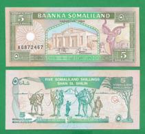 SOMALILAND - 5 SHILLINGS - 1994 - UNC - Somalia