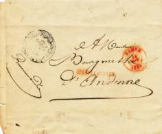 """864/29 - RARE Etui De Lettre Précurseur """" Recommandée"""" - NAMUR 1839 Vers ANDENNE - Cachet De La Province De NAMUR - 1830-1849 (Belgique Indépendante)"""
