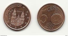 Spanien, 5 Cent, 2003,  Vz, Sehr Gut Erhaltene Umlaufmünzen - España