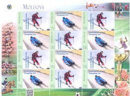 2018. Moldova, Personal Stamps, Winter Olympic Games Pyeongchang 2018, Sheetlet, Mint/** - Moldawien (Moldau)