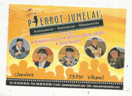 Cp, Pierrot Jumelais ,imitateur ,humoriste,  53 ,VILLEPAIL ,Mayenne ,  Voyagée - Cabarets