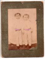 REF EX2 : Photo Originale Ancienne 17,5  X 12 Petit Colonial Enfants Coloniaux Probablement Conakry Sur Carton - Afrique