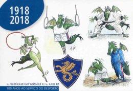 """Entier Postal De 2018 Sur CP Illustré """"Club De Gymnase De Lisbonne"""" - Postal Stationery"""