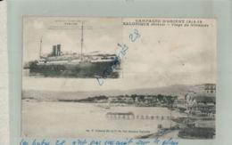 GRECE     CAMPAGNE D'ORIENT 1914 1918   SALONIQUE  Plage De  MIRAMAR, Paquebot TIMGAD Croiseur Auxiliaire  Sept  2019 40 - Grèce