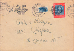 113 Briefmarken 20 Pf Als EF Auf Brief Werbestempel HANNOVER Brandkasse 22.6.50 - [7] Repubblica Federale