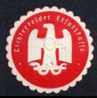 GERMANY WW2 3RD THIRD REICH LICHTERFELDER ERSATZFASSE LIGHTS AREA REPLACEMENT SIEGELMARKE NAZI GERMAN MARQUE SEAL - Cartas