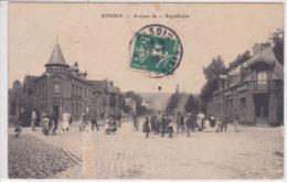 62 HESDIN Avenue De La République ,tampon OR Origine Rurale ,envoyée En 1910 à Melle Escadafal Institutrice à Caumont - Hesdin