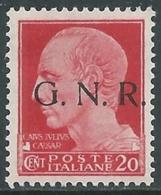 1944 RSI GNR EFFIGIE 20 CENT BRESCIA MNH ** - UR38-4 - Neufs