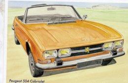 Peugeot 504 Cabriolet  -  Art Card By Gérard Crevon De Blainville  -  CPM - Passenger Cars